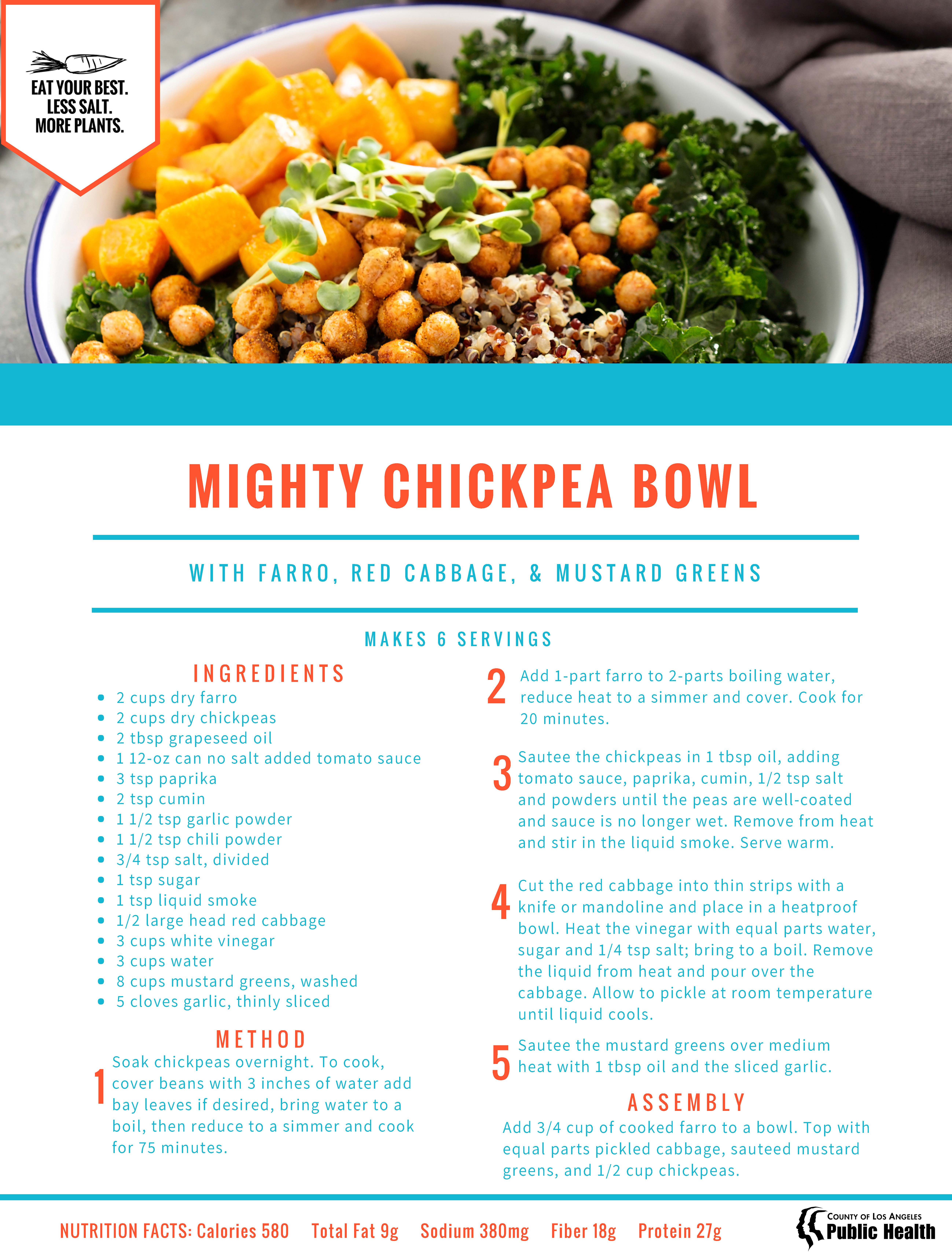 Mighty Chickpea Recipe print