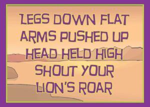 Lion's Roar Yoga Card Back