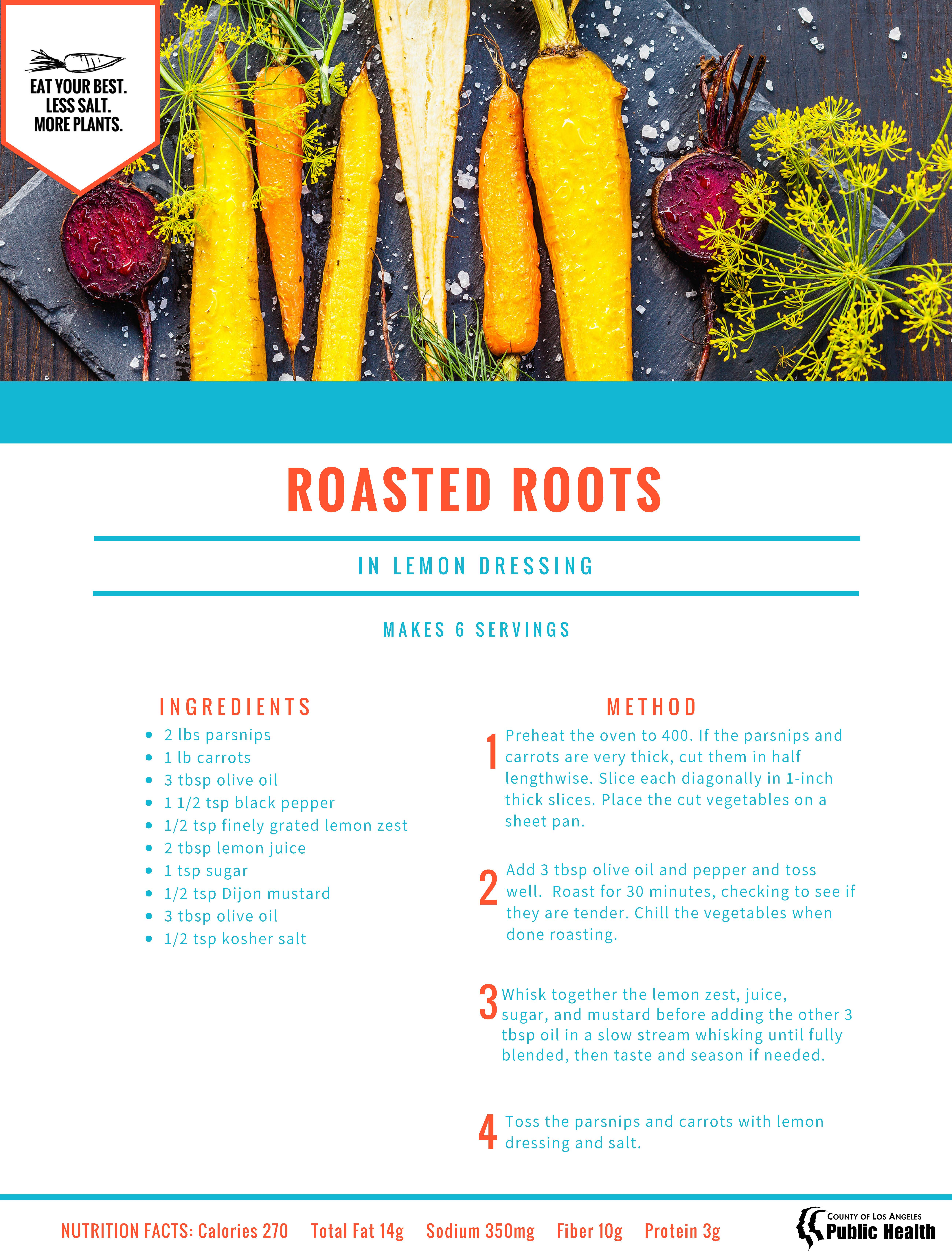 Roasted Roots in Lemon Dressing Print